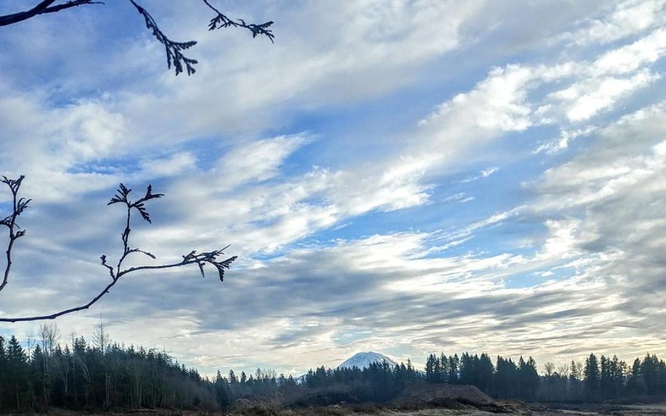 Christmas sky at Lake Sawyer